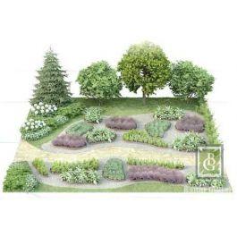 Композиция 9. Дизайн большого сада с джидой и барбарисом